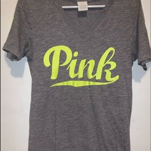 Gray and Lime Green T-Shirt